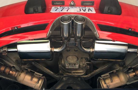 Porsche 986 Boxster S, Agency Power muffler exhaust system, dyno
