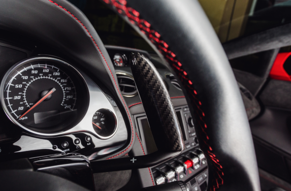 Lamborghini Gallardo, Agency Power, carbon fiber, paddle shifter extensions