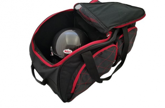 Hans Pro V.2 Pro Helmet Bag, roller bag, Bell Racing, racing track season