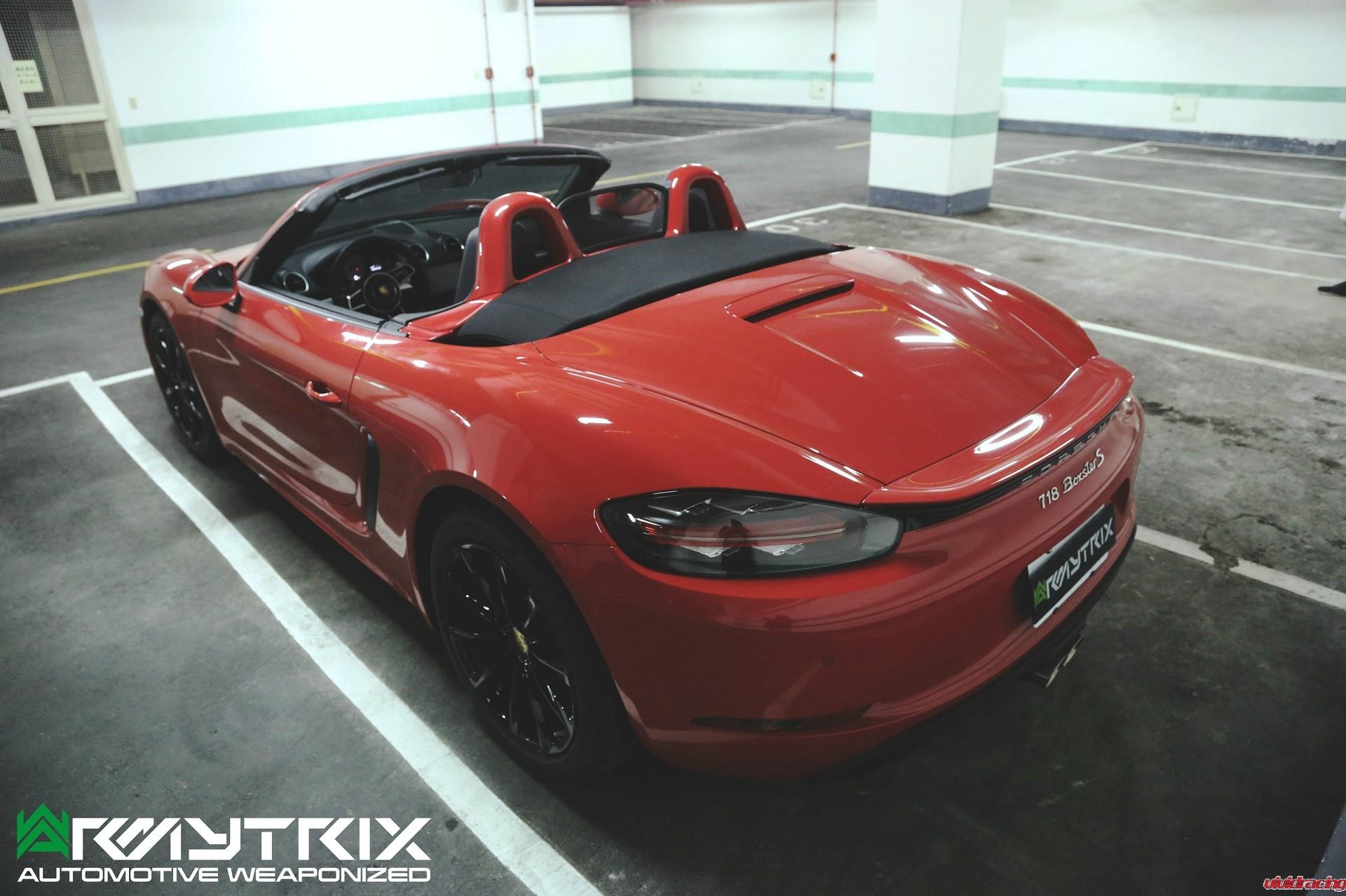 Armytrix, valvetronic exhaust, Porsche 718 Boxster S