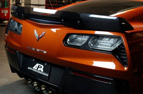 APR performance, fender moldings, carbon fiber, taillight, Corvette, C7, Z06