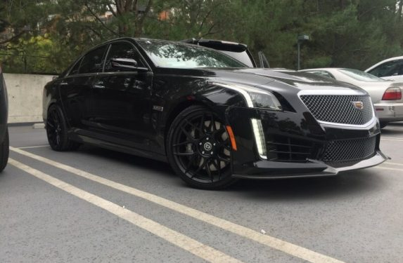 Cadillac carbon black package, HRE wheels, flow form, FF01, CTS-V
