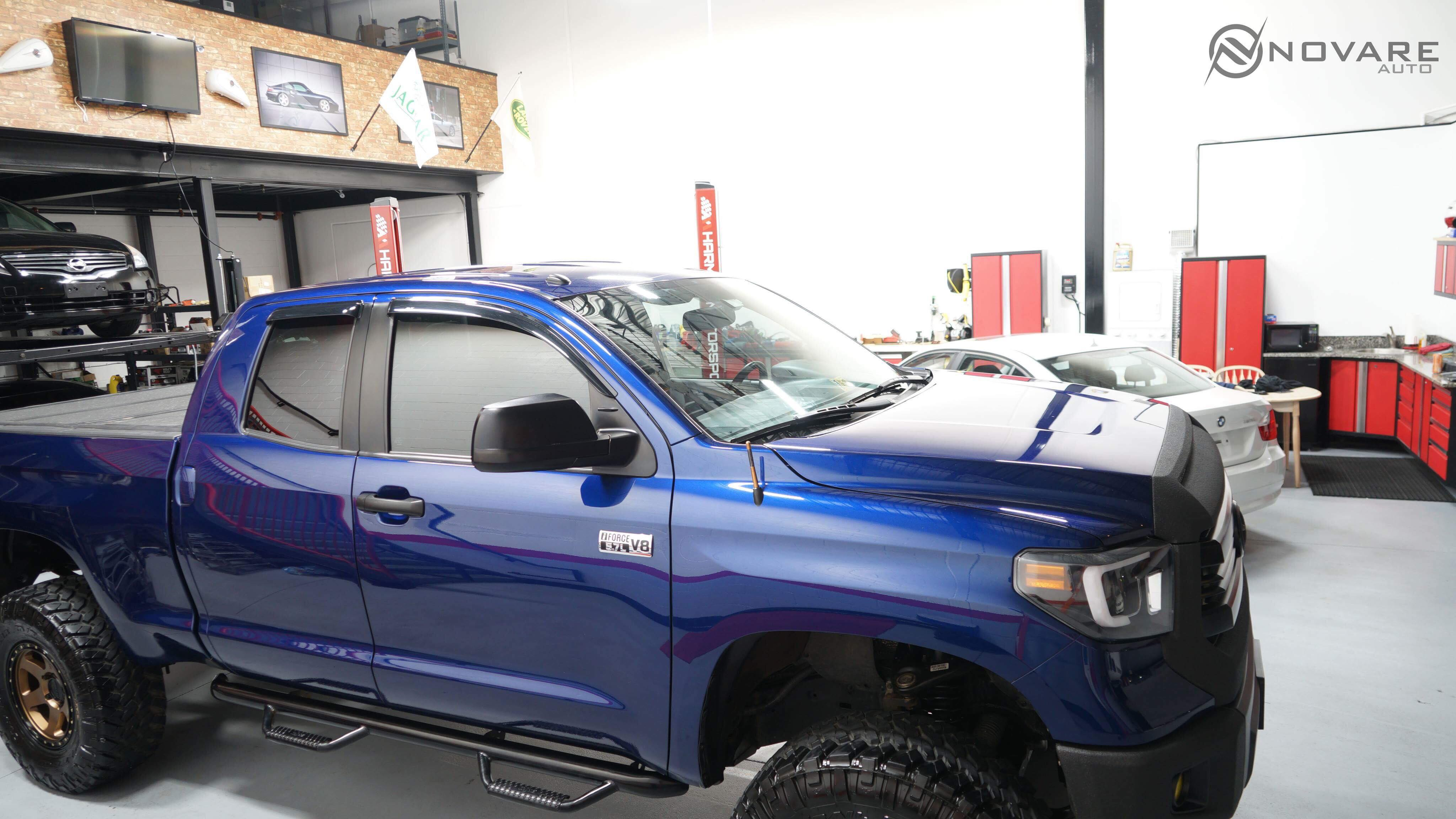 blue toyota tundra