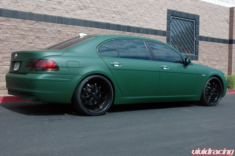 Bmw 750 Wrapped Army Green