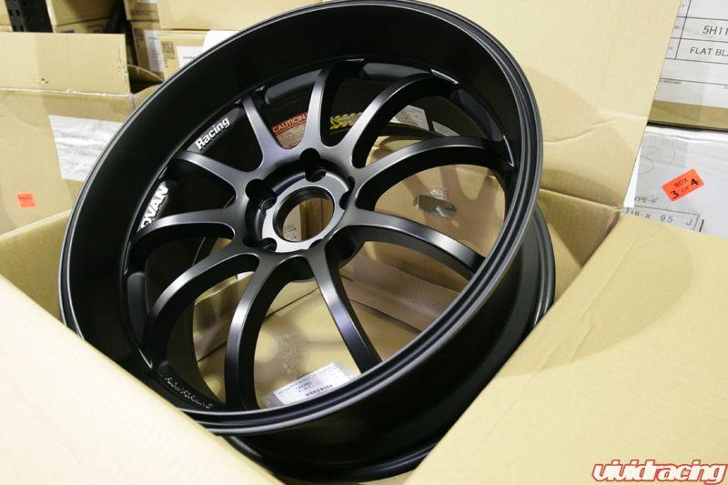 Instock clearance wheels by volk advan weds agency power vivid advan rs d wheel set 1890 51143 25 matte black mitsubishi evo viii ix x sciox Choice Image