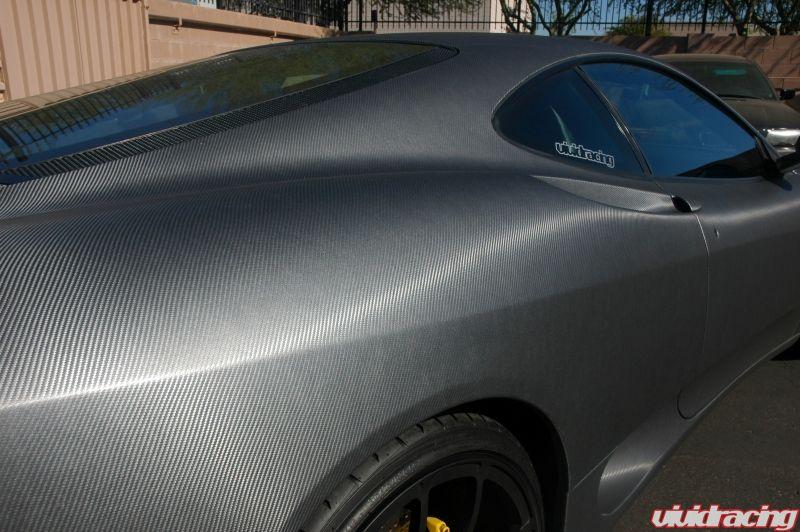 Matte Gray Carbon Wrapped Ferrari 360