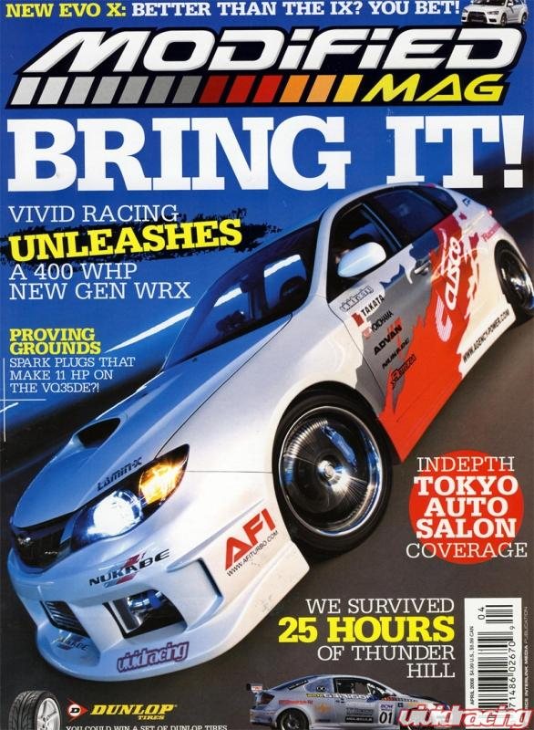 Vr Wrx On Cover Of Modified Magazine April 2008 Issue Vivid