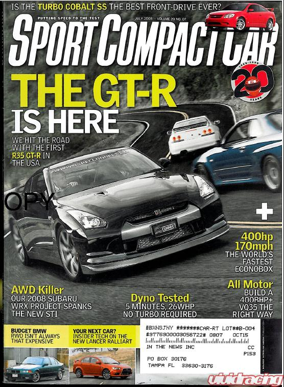 sport compact car magazine features vr in july 2008 issue vivid racing news. Black Bedroom Furniture Sets. Home Design Ideas