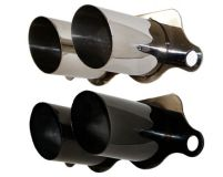 Cargraphic Stainless Steel Black Exhaust Tips Porsche 997 997.2 GT3 07-11