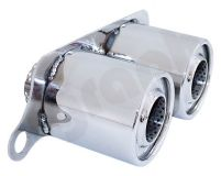 Cargraphic Stainless Steel Exhaust Tips Special Quiet Version Porsche 997 997.2 GT3 07-11