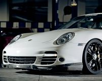 Agency Power Carbon Fiber Front Lip Spoiler Porsche 997 Turbo 07-10