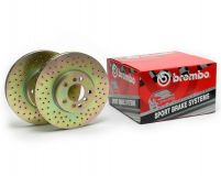 Brembo Sport Cross Drilled Rear Rotors Chevrolet Camaro SS 10-11
