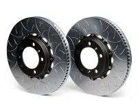 Brembo GT 13.8 Inch 2pc Rear Slotted Rotors Porsche Cayman S w/PCCB 06-12