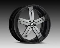 Forgiato Linee 19x9 5x112  Satin Silver Black Lip