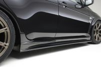 Sequential Japan Black Illusion Side Skirts Mitsubishi EVO X 08-12