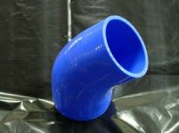 TurboXS Silicone 45 Degree Elbow Coupler 76mm Blue