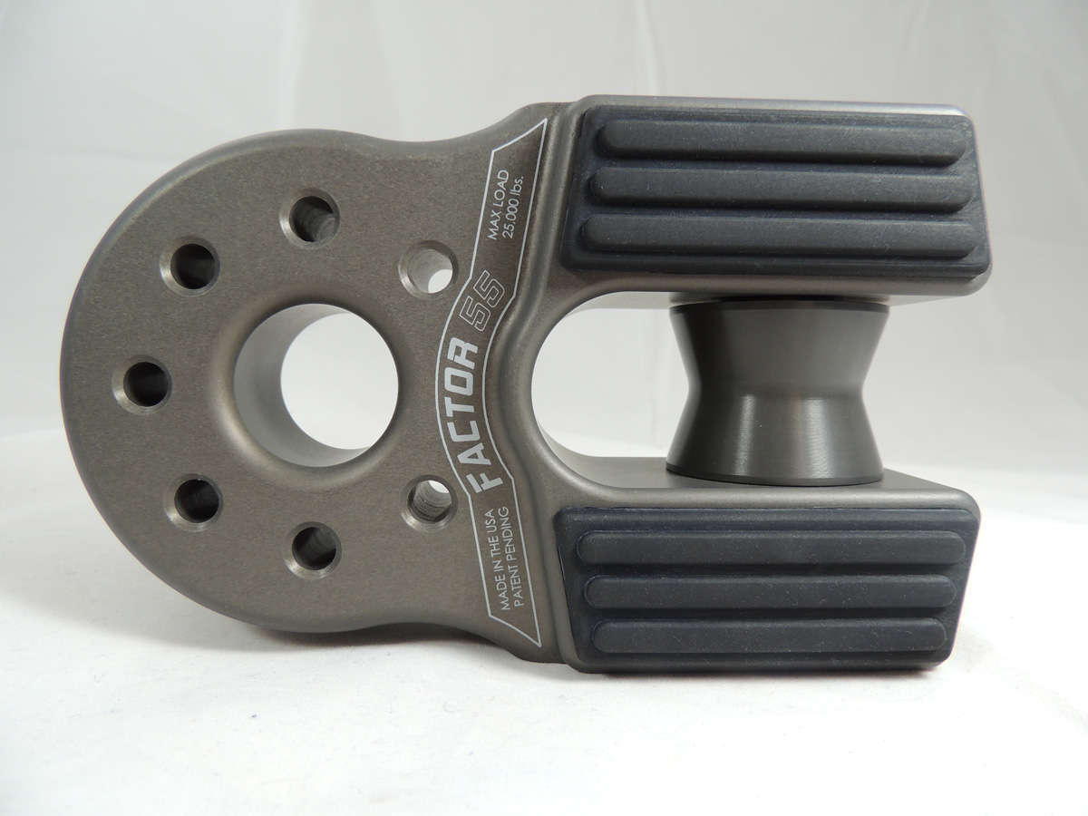 Factor 55 FlatLink XXL Winch Shackle Mount Assembly Anodized Gray - 00090-06
