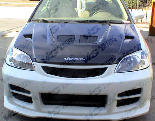 VIS Racing Carbon Fiber EVO Hood Honda Civic 01-03 - 01HDCVC2DEV-010C