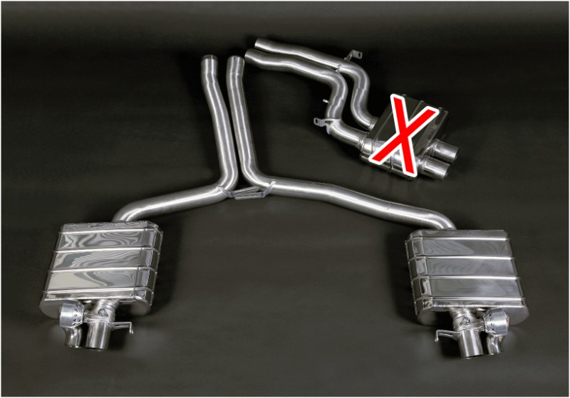Capristo Exhaust Valved Exhaust System w/Mid-Silencer Delete Pipes No  Remote Audi RS5 10-20