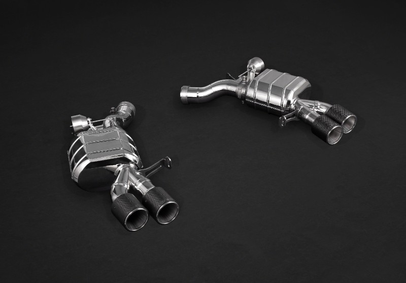 Capristo Exhaust Valved Exhaust System, Mid-Pipes, Post-Cat Pipes w/Remote F06 F12 F13 BMW M6 13-19 - 02BM03803009
