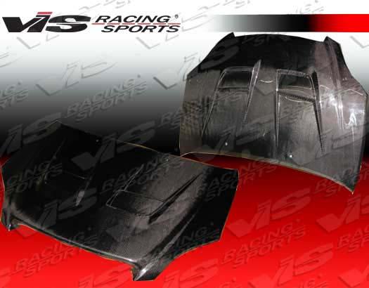 VIS Racing Carbon Fiber Thunder Hood Toyota Matrix 02-04 - 02TYMAT4DTHU-010C