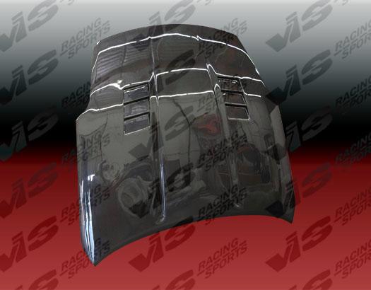 VIS Racing Carbon Fiber GTC Hood Nissan 350Z 03-06 - 03NS3502DGTC-010C