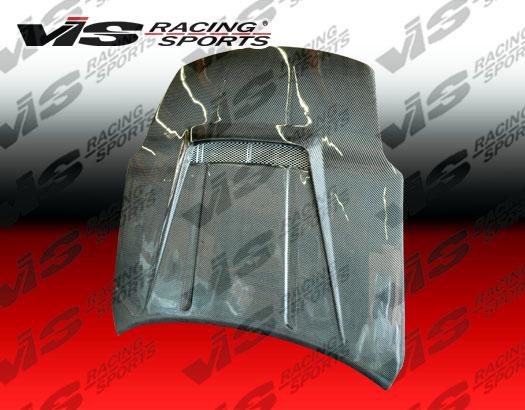 VIS Racing Carbon Fiber Invader 2 Hood Nissan 350Z 03-06 - 03NS3502DVS2-010C