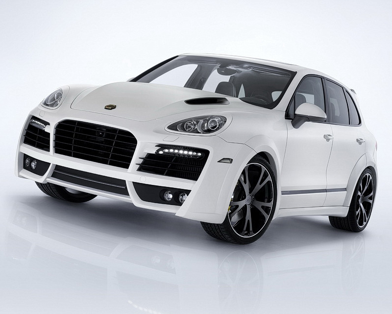 TechArt Magnum Aero Wide Body Kit Black Running Lights Porsche Cayenne 958 with Tow Hitch 11-14 - 058.100.053.009BLK