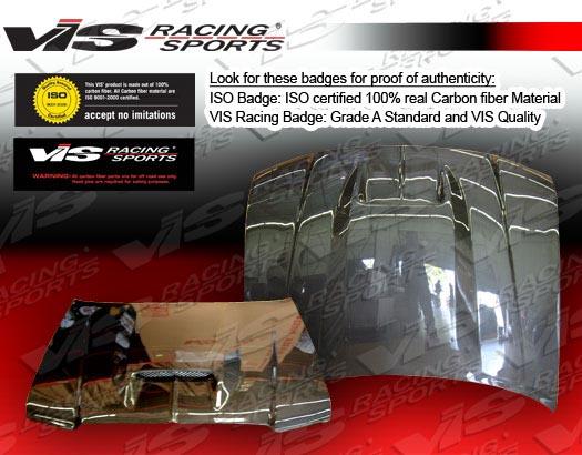 VIS Racing Carbon Fiber SRT Hood Dodge Magnum 05-07 - 05DGMAG4DSRT-010C