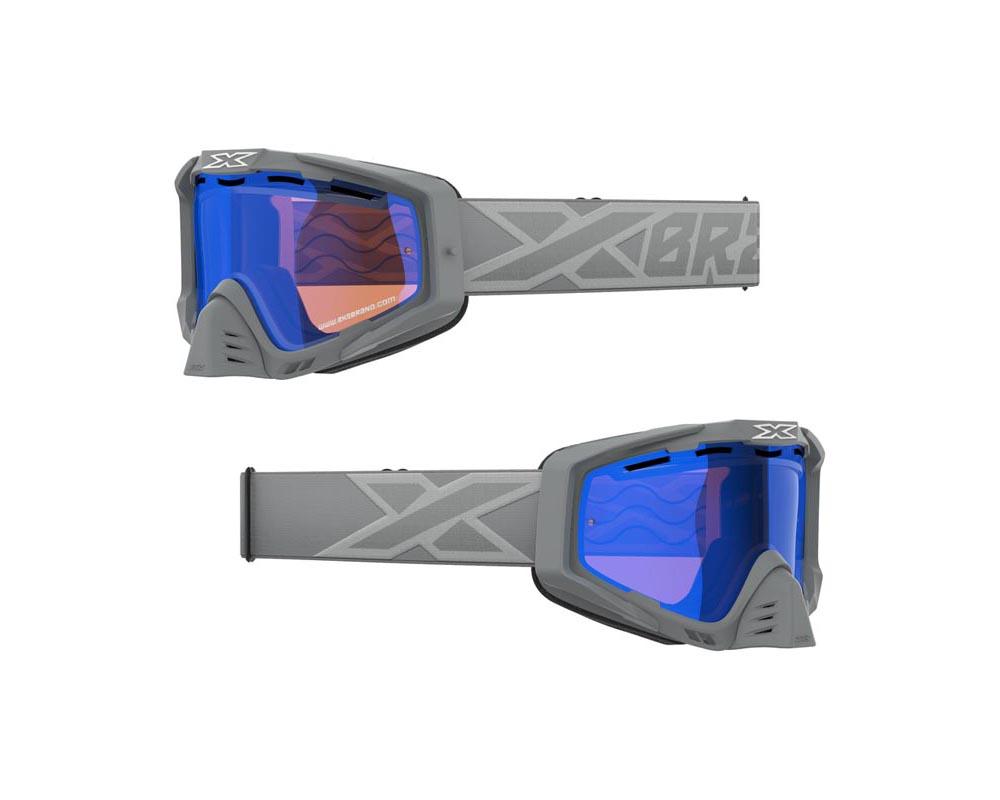 EKS Brand Snow-X  EKS-S Goggles Grey and Silver - 067-10908