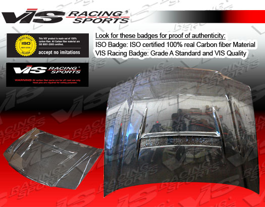 VIS Racing Carbon Fiber N1 Style Hood Acura TSX 06-07 - 06ACTSX4DN1-010C