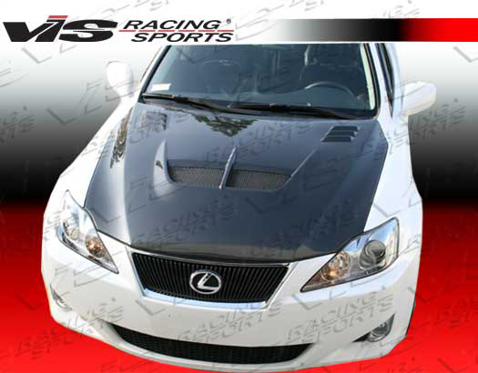 VIS Racing Carbon Fiber Cyber Hood Lexus IS250/350 06-08 - 06LXIS34DCY-010C