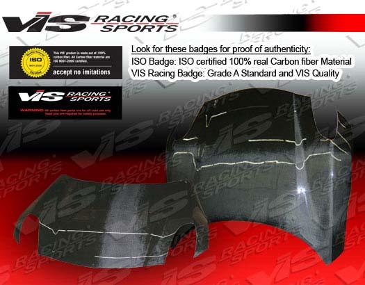 VIS Racing Carbon Fiber OEM Hood Pontiac Solstice 06-07 - 06PTSOL2DOE-010C