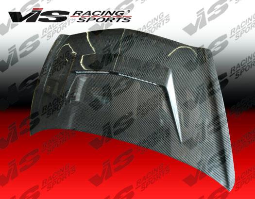 VIS Racing Carbon Fiber Invader 2 Hood JDM Honda Fit 07-08 - 07HDFIT4DJVS2-010C