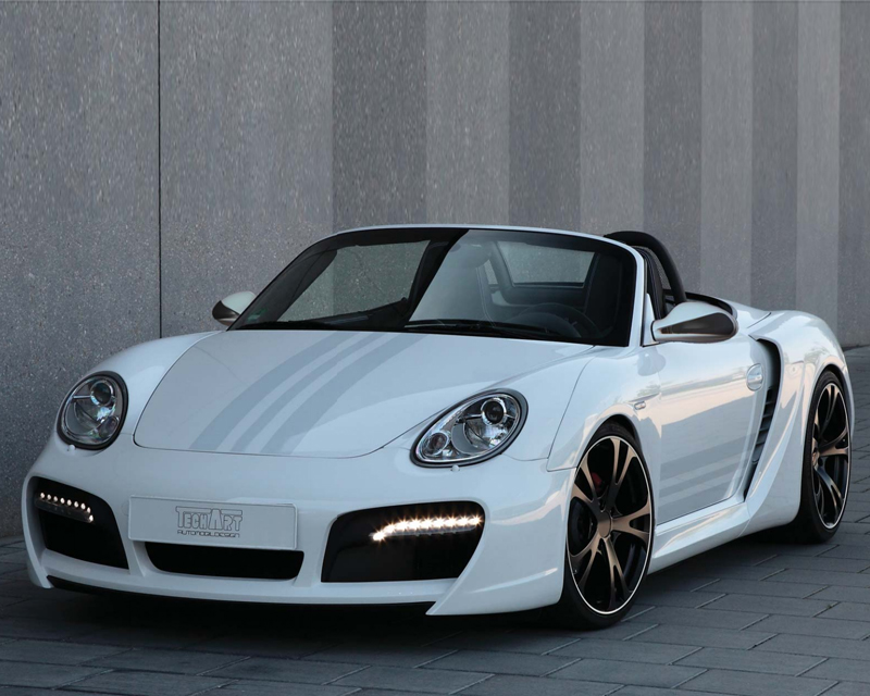 TechArt Wide Body Kit with Chrome Running Lights Porsche Boxster without OE DRL 05-12