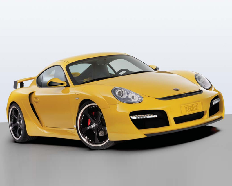 TechArt Wide Body Kit with Black Running Lights Porsche Cayman without OE DRL 06-13 - 087.100.062.009BLK