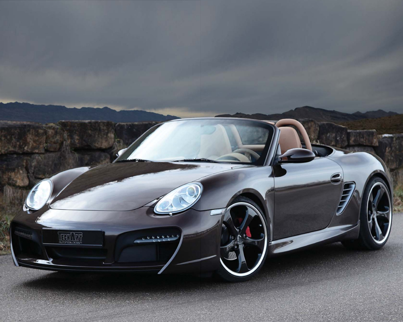 TechArt Front Spoiler Type 2 with Chrome Running Lights Porsche Boxster without OE DRL 05-12 - 087.100.122.009CHR