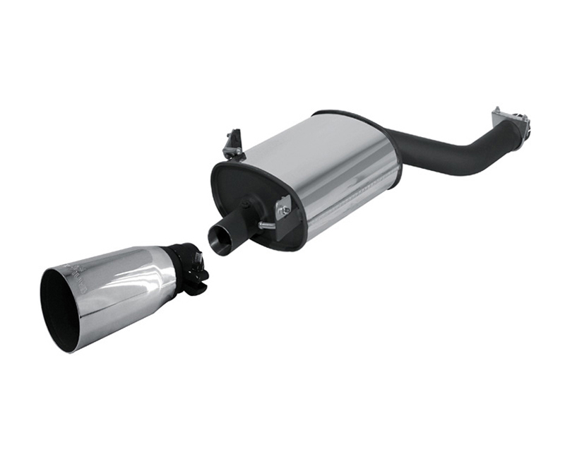 REMUS PowerSound Muffler w/Valve Control & 90mm Tip BMW 323i E46 2.5L 98-05