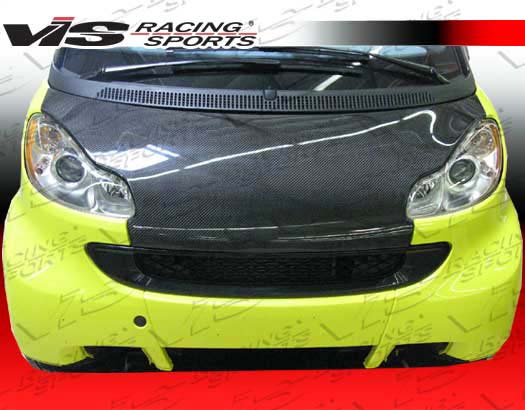 VIS Racing Carbon Fiber OEM Hood Smart Fortwo 08-09 - 08SMFR22DOE-010C