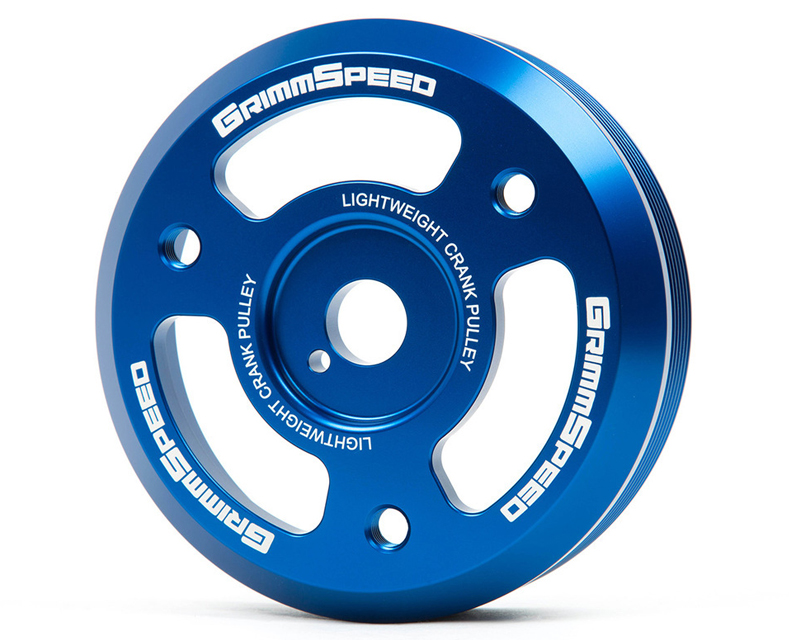 GrimmSpeed Blue Lightweight Crank Pulley Subaru WRX 15-16 - 95022