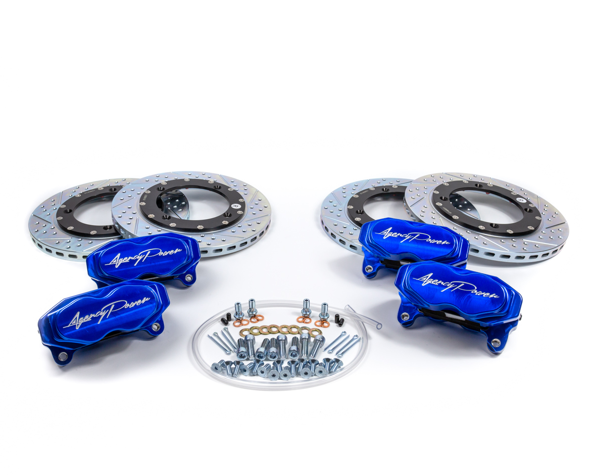 Agency Power Big Brake Kit Front and Rear Blue Ice Can-Am Maverick X3 Turbo - AP-BRP-X3-460-BLU