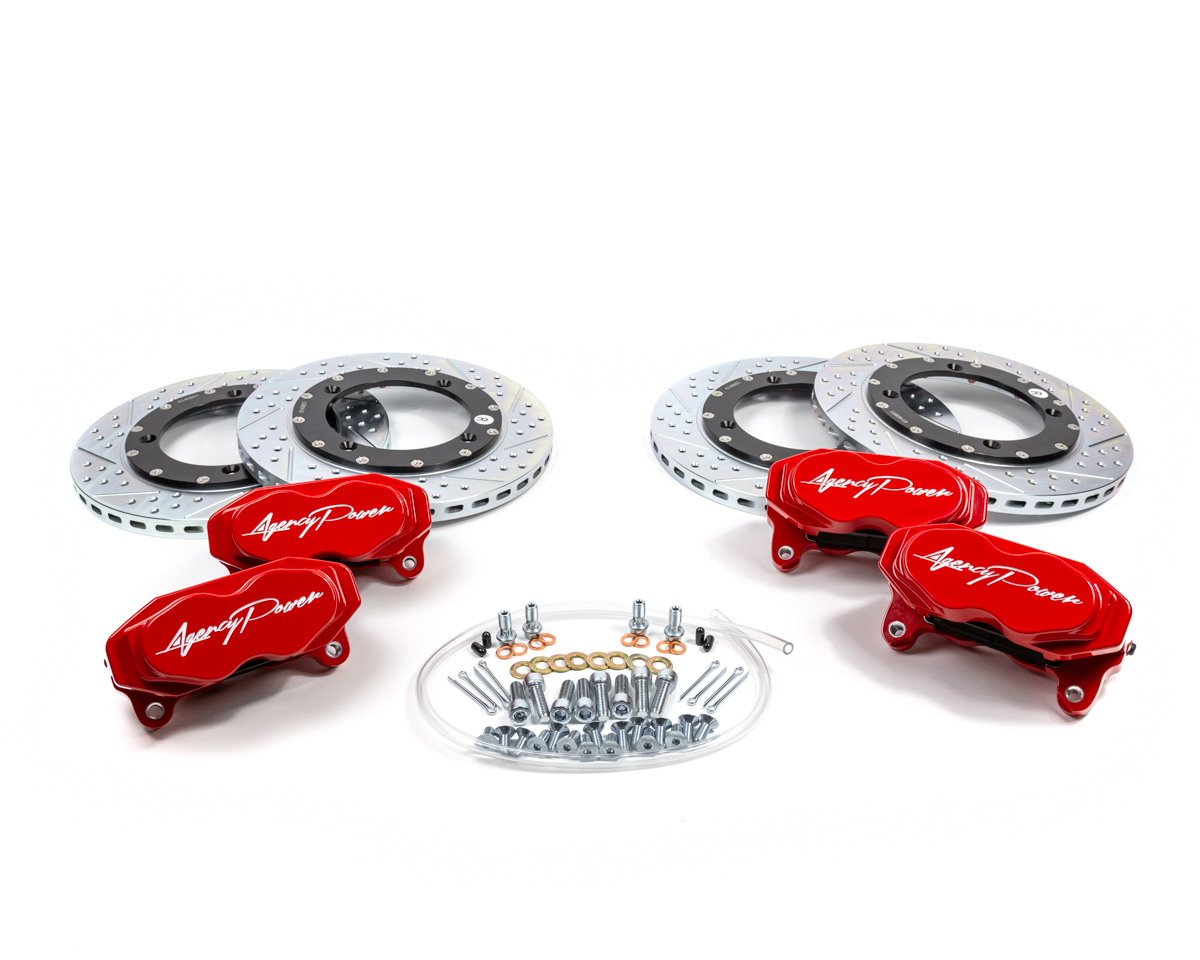 Agency Power Big Brake Kit Front and Rear Red Can-Am Maverick X3 Turbo - AP-BRP-X3-460R