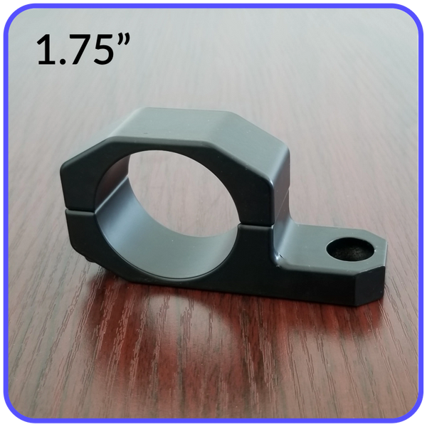1.75 Inch Inside Diameter Roll Cage Clamp Aluminum Black Anodized Pyramid LED Whips - 1.75RCC