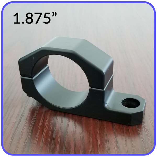1.875 Inch Inside Diameter Roll Cage Clamp Aluminum Black Anodized Pyramid LED Whips - 1.875RCC