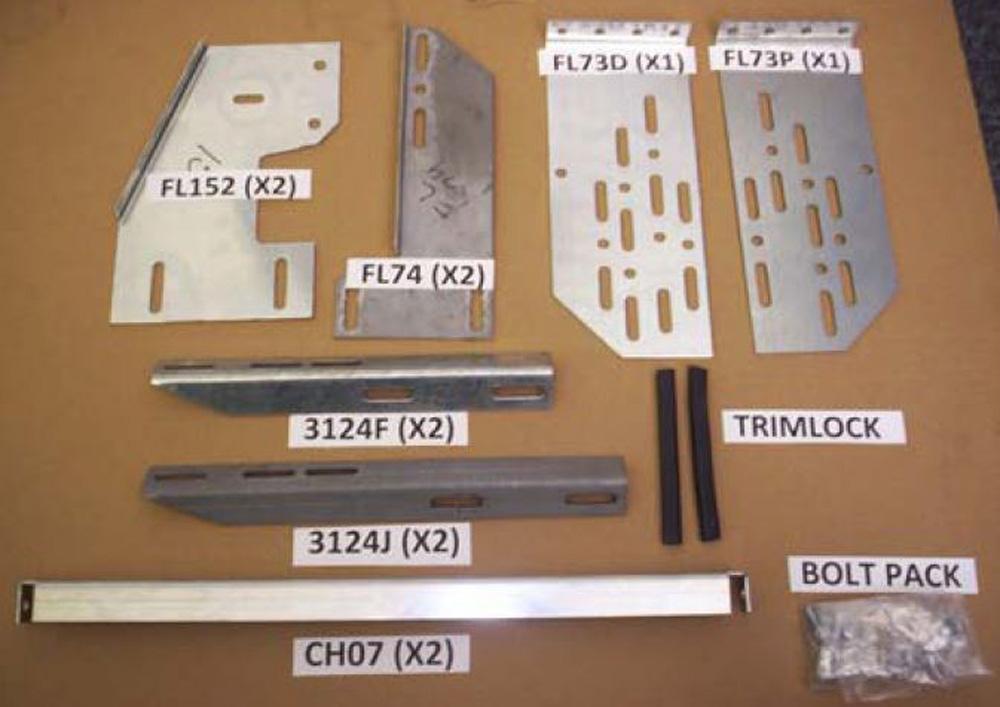 2009 Ram 1500-3173-01/3185-01 Bracket Kit (Must Order Separately) 09 Ram 1500 Heavy Gauge Steel Silver Owens Products - 10-1087