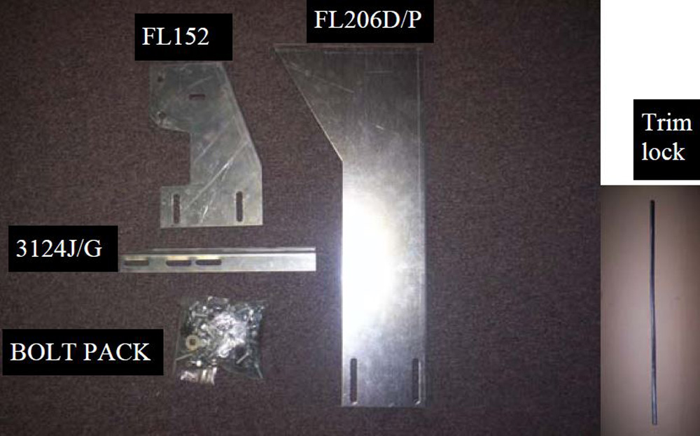 2011 3174-01 Bracket Kit (Must Order Separately) 11-18 Ram W/O Flares 8.2 Ft Long Bed Heavy Gauge Steel Silver Owens Products - 10-1172