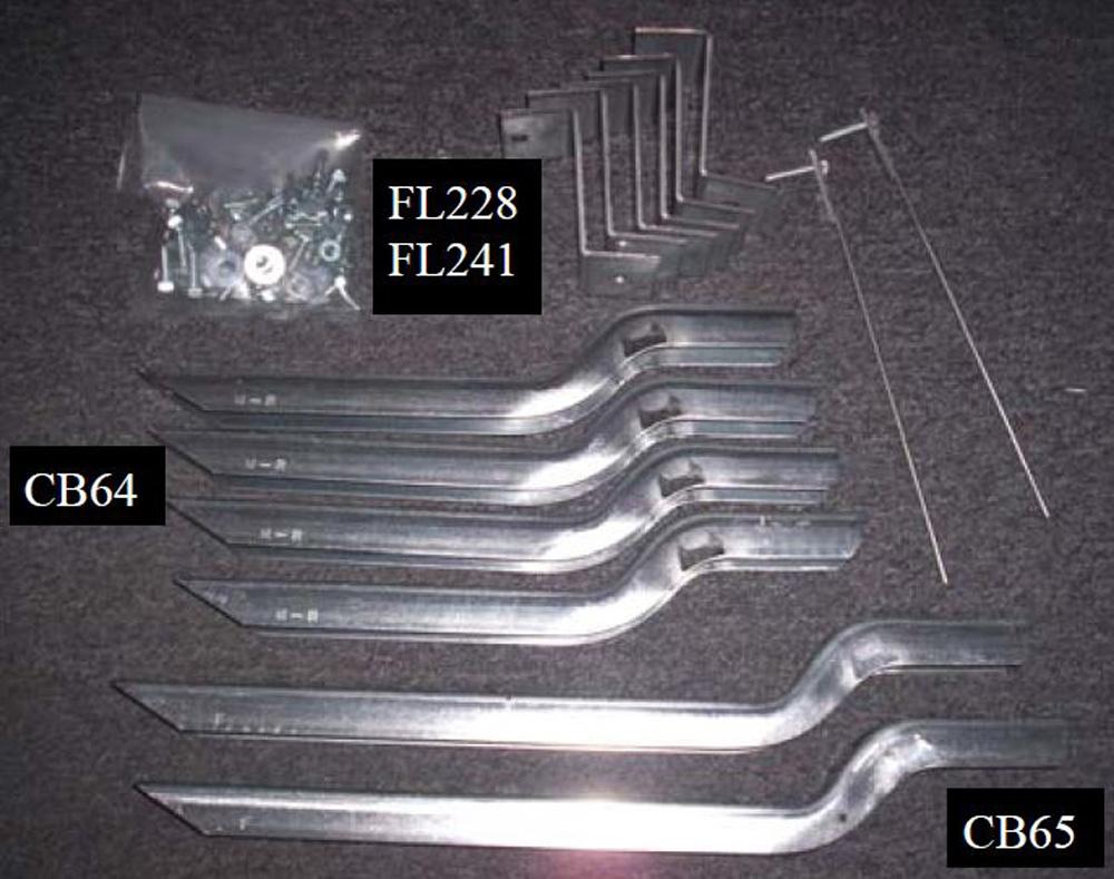67667-01 Bracket Kit (Must Order Separately) 09-11 Honda Pilot Heavy Gauge Steel Silver Owens Products - 10-1196