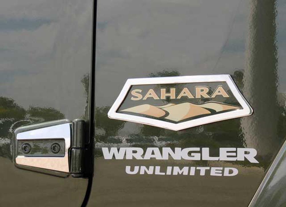 Wrangler Sahara Grille Emblem 07-15 Jeep Wrangler Sahara Stainless Polished 2 Piece T1 Series T-REX Grilles - 10486