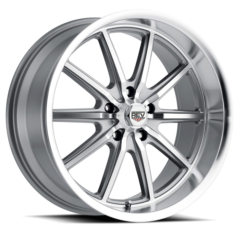 110 Classic Icon Series 17x7 5x114.3 0MM Anthracite Center And Machined Lip REV Wheel - 110S-7706500