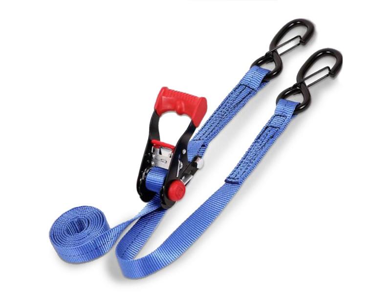 1 Inch x 10 Foot Ratchet Tie Down w/ Snap S Hooks Blue SpeedStrap - 11102